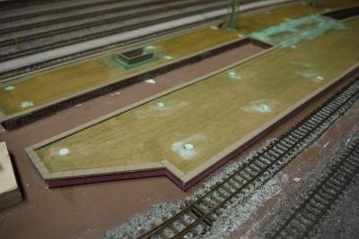 Bahnsteigkante Schmalspurbahnhof