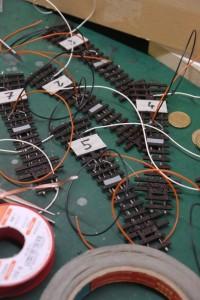 H0e Weichen Kabel angeschlossen