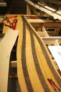 Gleise verlegt Ausweichstelle