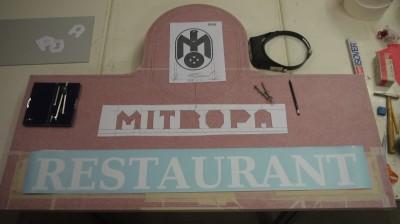 Restaurantschild Beschriftung