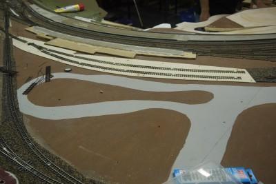 Gleisunterbau H0e Personenbahnsteig