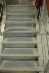Treppenstufen Nummern