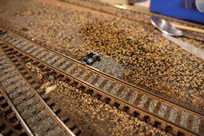 Gleissperre eingeschottert