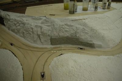 Felsen- und Mauerteile H0 Grundanstrich_3
