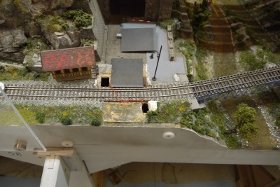 Schrankenanlage Bahnübergang H0