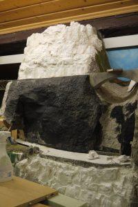 Felswand Aufbau H0