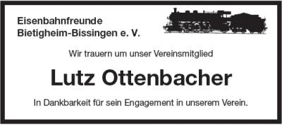 Traueranzeige Lutz Ottenbacher