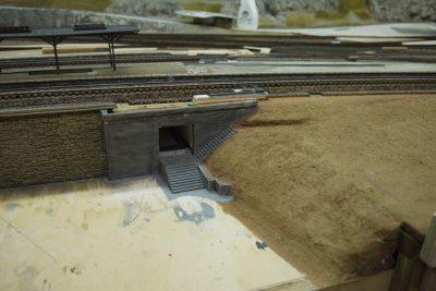 Treppenzugang Bahnsteigunterführung
