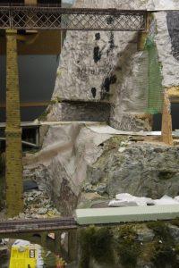 Unterbau Felswand H0